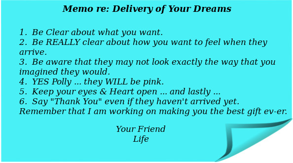 Create your dreams Memo from Life